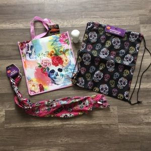 Other - 🎃On SALE or FREE GWP! NEW Skull-Head Bags & Scarf